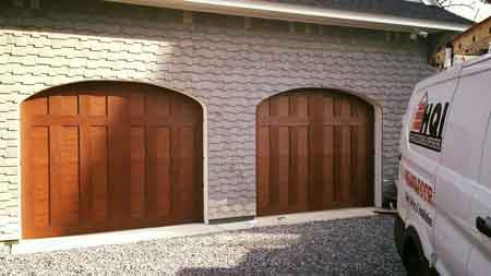 wooden doors with truck